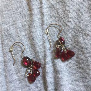 Jewelry - Silver & red earrings